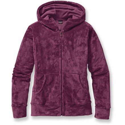 Soon to be your go-to favorite, the Patagonia Plush Synchilla hoodie is made from silky-soft polyester fleece that you won't want to take off at the end of your day. Burrow into the soft warmth of high-pile, double-faced, micro-denier polyester fleece; it traps heat, dries quickly and warms you even when wet. Features a full-length front zipper and a flip-up hood. Patagonia Plush Synchilla hoodie has sweatshirt-style handwarmer pockets. Hip length design has a comfortable, regular fit that's not too tight and not too loose. Closeout. - $43.93