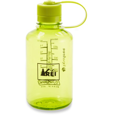 Camp and Hike Add some color to your water breaks with the 16 fl. oz. REI Nalgene Narrow-Mouth Loop-Top water bottle. It's made with tough TritanTM plastic in attractive translucent colors. - $8.95