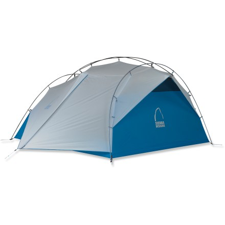 Camp and Hike The Sierra Designs Flash 3 tent sets up in a matter of seconds with new ExoFusion technology. This setup combines an external pitch with an integrated fly to speed setup and increase interior space. - $289.93