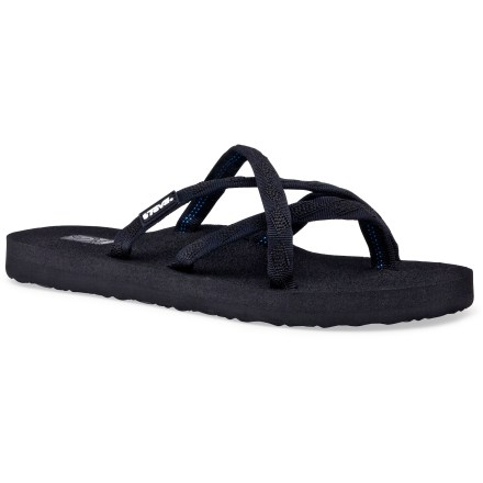 Entertainment Offering a secure fit, Teva Olowahu flip-flops are well suited for beach adventures or extreme backyard relaxing. - $11.83