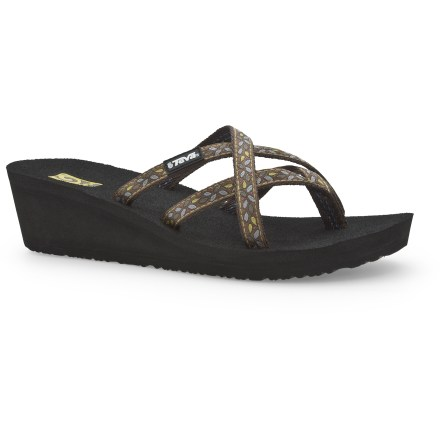 Surf The Teva Mush Mandalyn Wedge Ola 2 sandals are quintessential footwear for warm-weather fun and frolicking. - $14.83