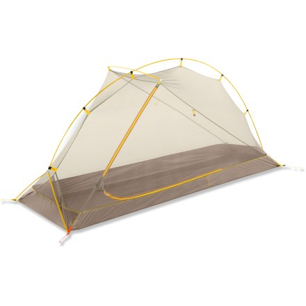Camp and Hike The North Face Mica FL 1 tent is an ultralight, 1-person tent with generous headroom. It also has an easy-access side door with a dry entry and nice size vestibule to store your gear. - $229.93