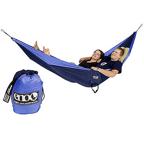 Camp and Hike Features of the Eagles Nest DoubleDeluxe Hammock High Strength Breathable Woven Nylon Super Strong Nautical Grade Line High Grade Nylon Triple Interlocking Stiching Maximum Weight 400lbs - $84.95