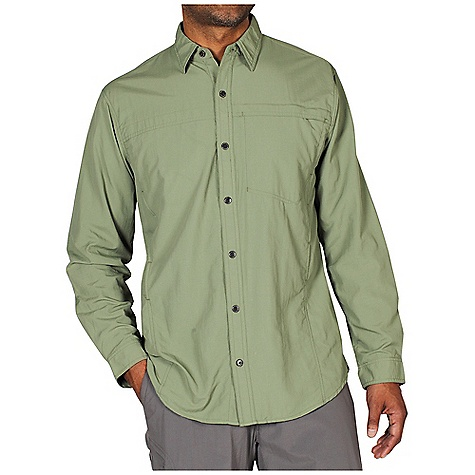 Free Shipping. Ex Officio Men's BugsAway Breezer L-S Top DECENT FEATURES of the Ex Officio Men's BugsAway Breezer Long Sleeve Top Button front placket Security zip pocket Button front placket Flow thru ventilation system Anti-Insect: Insect Shield finish to repel flies, ticks, mosquitoes, chiggers, midges, and ants Sun Guard 30+: Specialized fabric rated with a UPF (Ultraviolet Protection Factor) absorbs and reflects harmful rays, preventing them from damaging your skin Quick Drying: Fibers release moisture easily so garment dries rapidly Moisture Wicking: Fabric moves moisture along the garment's surface away from the skin Ventilation: Strategically placed vents circulate air to decrease body temperature The SPECS Natural fit Exhale UV Block Ripstop 100% Nylon - $79.95