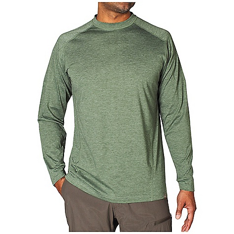 Free Shipping. Ex Officio Men's BugsAway SecuriTee L-S Top DECENT FEATURES of the Ex Officio Men's BugsAway SecuriTee Long Sleeve Top Interior fold-over key pocket Flatlock stitching Forward facing shoulder seams Anti-Insect: Insect Shield finish to repel flies, ticks, mosquitoes, chiggers, midges, and ants Sun Guard: Specialized fabric rated with a UPF (Ultraviolet Protection Factor) absorbs and reflects harmful rays, preventing them from damaging your skin Moisture Wicking: Fabric moves moisture along the garment's surface away from the skin Lightweight: Lightweight fibers make this weigh less than a similar garment The SPECS Natural fit Heather Jersey 65% Polyester/35% Cotton - $59.95