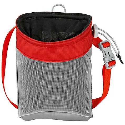 Climbing Mammut Zephir Chalk Bag DECENT FEATURES of the Mammut Zephir Chalk Bag Stable opening Tight closure Lining made of thick fleece Tooth brush carrier 2 suspension points include large waist belt The SPECS Weight: 64 g Fabric: Nylon 100D Cordura Dobby R/S ALL CLIMBING SALES ARE FINAL. - $19.95