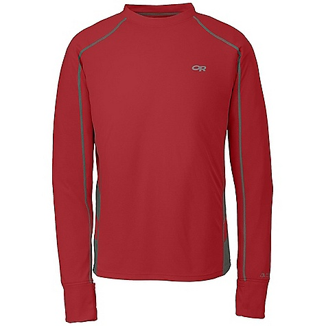 Free Shipping. Outdoor Research Men's Torque LS Tee DECENT FEATURES of the Outdoor Research Men's Torque Long Sleeve Tee Lightweight Quick Drying Wicking UPF 15 Polygiene Active Odor Control Venting Mesh Panels Fold Over Cuff The SPECS Weight: (L): 6.0 oz / 171 g Fit: Trim Polartec Power Dry: 76% polyester, 24% polypropylene fabric, 100% polyester mesh side panels This product can only be shipped within the United States. Please don't hate us. - $68.95