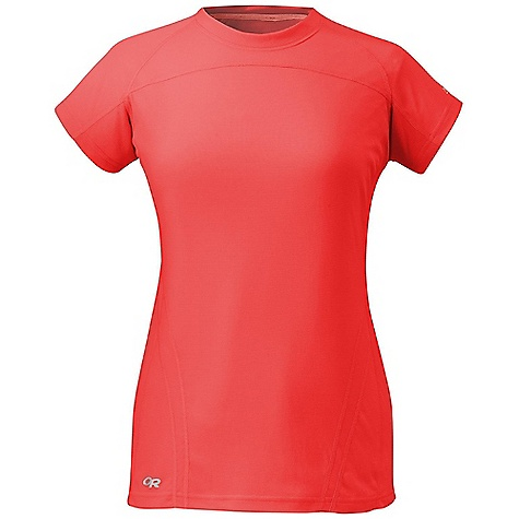 Free Shipping. Outdoor Research Women's Torque SS Tee DECENT FEATURES of the Outdoor Research Women's Torque Short Sleeve Tee Lightweight Quick Drying Wicking UPF 15 Polygiene Active Odor Control Venting Mesh Panels Wordmark Reflective Hem Wrap Label The SPECS Weight: (M): 4.2 oz / 118 g Fit: Trim Polartec Power Dry: 76% polyester, 24% polypropylene fabric, 100% polyester mesh side panels This product can only be shipped within the United States. Please don't hate us. - $58.95