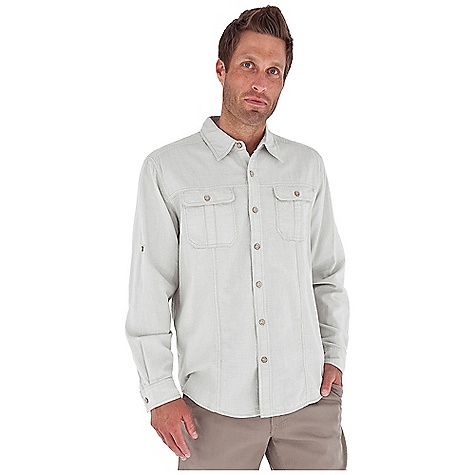 Entertainment Free Shipping. Royal Robbins Men's Cool Mesh Baja L-S Top DECENT FEATURES of the Royal Robbins Men's Cool Mesh Baja Long Sleeve Top Tonal stitching details Dual chest pockets with button closure Roll-up sleeve tabs Shirt tail hem The SPECS Regular fit Fabric: Island Cool Mesh 4 oz 100% Cotton Garment washed - $54.95
