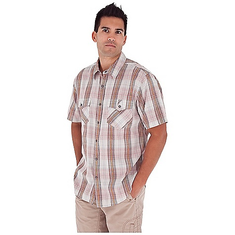 Entertainment Free Shipping. Royal Robbins Men's Clutch Plaid S-S Top DECENT FEATURES of the Royal Robbins Men's Clutch Plaid Short Sleeve Top Dual chest pockets with snap closure Double point back yoke Chevron detail at back yoke High cut shirt tail hem The SPECS Regular fit Fabric: 2.3 oz 100% Cotton - $57.95
