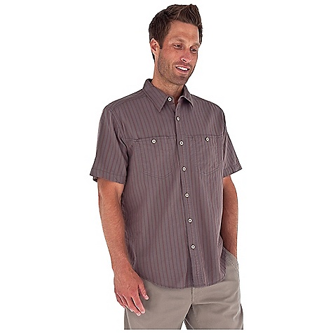 Entertainment Free Shipping. Royal Robbins Men's Cool Mesh Stripe S-S Top DECENT FEATURES of the Royal Robbins Men's Cool Mesh Stripe Short Sleeve Top Dual chest pockets with button closure Shirt tail hem The SPECS Relaxed fit Fabric: Island Cool Mesh 4 oz 100% Cotton Garment washed - $54.95
