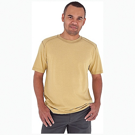 Entertainment Royal Robbins Men's Flynn Crew S-S Top DECENT FEATURES of the Royal Robbins Men's Flynn Crew Short Sleeve Top Tonal stitching details Rotated shoulder seams Straight hem The SPECS Relaxed fit Fabric: Flynn Jersey 6 oz 55% Hemp / 45% Organic Cotton Garment washed UPF 50+ - $44.95