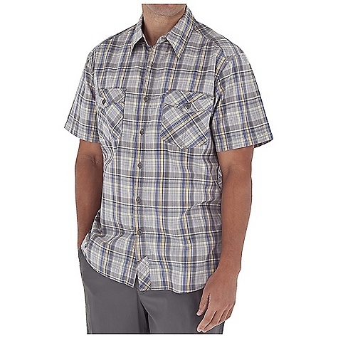 Entertainment Free Shipping. Royal Robbins Men's Lenny Plaid S-S Top DECENT FEATURES of the Royal Robbins Men's Lenny Plaid Short Sleeve Top Tonal stitching details Dual chest pockets with button closure Rotated front and back yokes set on bias Bias detail at center back collar, center front placket, chest pockets and bottom side seam Shirt tail hem The SPECS Regular fit Fabric: 3 oz 60% Cotton / 40% Polyester - $59.95