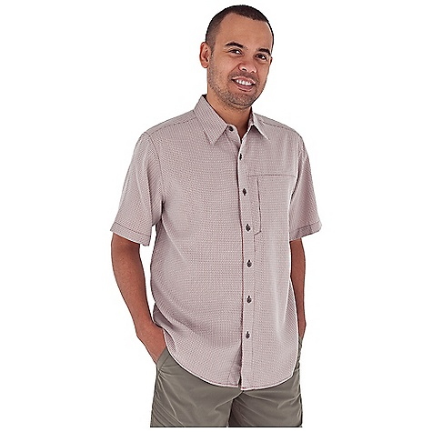 Entertainment Free Shipping. Royal Robbins Men's Pecos Plaid S-S Top DECENT FEATURES of the Royal Robbins Men's Pecos Plaid Short Sleeve Top Sand washed finish Zip secured chest pocket Shirt tail hem The SPECS Relaxed fit Fabric: 4 oz 68% Modal Rayon / 32% Polyester Sand washed finish - $59.95