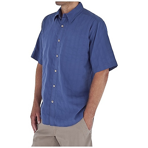 Entertainment Free Shipping. Royal Robbins Men's Solid Jasper S-S Top DECENT FEATURES of the Royal Robbins Men's Solid Jasper Short Sleeve Top Contrast stitching color Double chest pocket with snap closure on main pocket Twill tape detail in back collar Shirt tail hem The SPECS Relaxed fit Fabric: Jasper Seersucker 3 oz 73% Organic Cotton / 27% Recycled Polyester Garment washed - $54.95