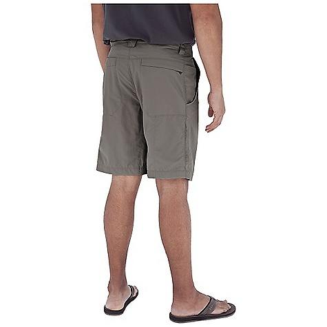 Fitness Features of the Royal Robbins Men's Global Traveler Short UPF 40+ Teflon finish for stain and water resistance Zip secured tHigh and right back pocket Hook and loop closure on left back pocket Breathable mesh pocket bags Full length running gusset - $26.99