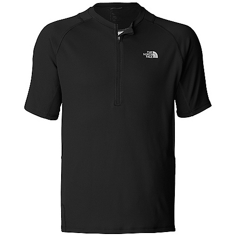 Free Shipping. The North Face Men's Captain Ten Speed Jersey DECENT FEATURES of The North Face Men's Captain Ten Speed Jersey VaporWick for moisture wicking Center front half zip neck Short-sleeve Mesh venting panels at sides and under arm Sunglass wipe sewn into hem Ultraviolet protection factor (UPF) 30 Back zip stash pocket Reflective logo Elliptical hem for rear coverage Contains 92% recycled content by weight The SPECS Fabric: 130 g/m^2 recycled polyester wicking jersey with a Sanitized Silver treatment This product can only be shipped within the United States. Please don't hate us. - $59.95