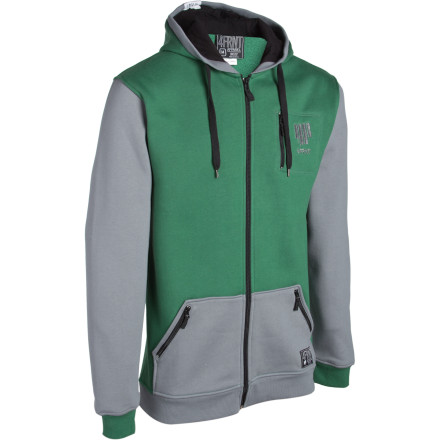 Ski The geniuses at 4FRNT made the Treeline Full-Zip Hoodie green because they knew you'd be hiding in the trees after every other creamy lap through the park. - $27.98