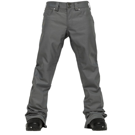 Snowboard The Burton Pointer Slim-Fit Pant delivers both legit storm-proof tech and skate-inspired style. Fully taped seams and 10K-rated waterproof fabric seal out the elements, while the five-pocket design and slim cut mean you don't have to wear soggy cotton denim to get the look you want. - $104.96