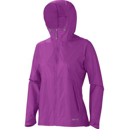 Fitness The Marmot Women's Crystalline Jacket poses no threat to your immaculate pack job, but remains readily available to slough off even the most heinous of Mother Nature's attempts to ruin your alpine fun. Pack it into its own pocket and keep it safely stowed away until those thunderheads look about ready to burst. - $149.95