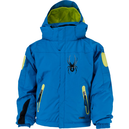 Snowboard If it starts to flurry on the hill, the Spyder Little Boys' Mini Challenger Jacket works to keep your ripper dry. If the temps drop, insulation in the body and sleeves warms his torso. - $25.99
