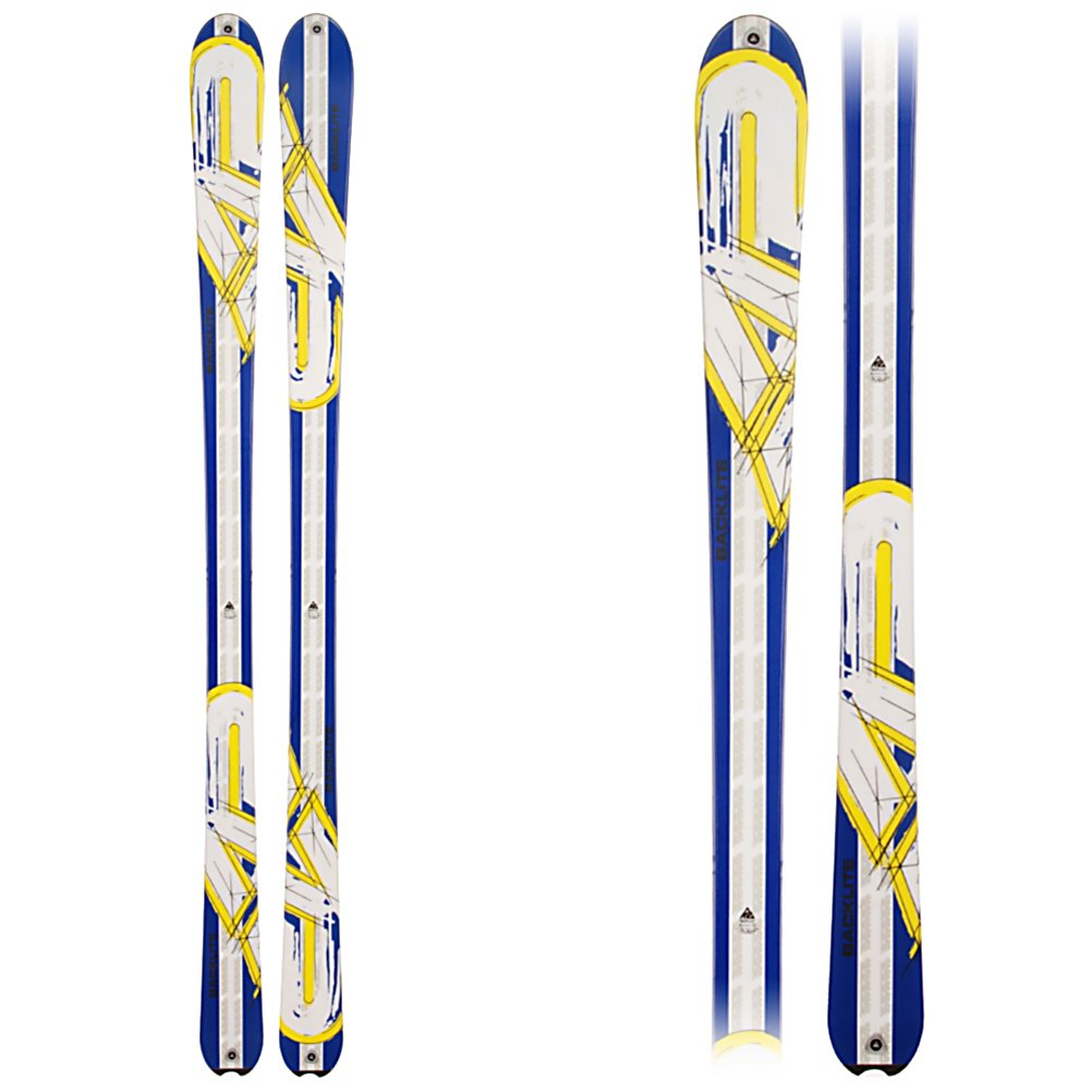 Climbing K2 Backlite Skis - The K2 Backlite Skis are a versatile pair of skis but love to hit the darker side of the mountain. They are made for the climb and offer power and precision on the way down. Starting off the SnoPhobic Topsheet, you'll have a snow repellent topside of the skis that help when you're climbing by removing that heavy snow that can add pounds and fatigue to any climb. With its Torsion Box construction you'll have light and lively skis that are allow you to ski with ease, forgiveness and energy. The Paulownia Wood Core is light with flex so you have the freedom to ride on a variety of terrain. These K2 Backlite Skis are an all-mountain enjoyable pair of sticks. . Warranty: One Year, Core Material: Wood, Base Material: Extruded, Special Features: SnoPhobic Topsheet, Special Features: Torsion Box, Skill Range: Advanced Intermediate - Advanced, Model Year: 2011, Product ID: 306235, Shipping Restriction: This item is not available for shipment outside of the United States., Ski Gear Intended Use: All Mountain, Waist Width: 70-75mm, Turn Radius: 16-20, Titanium: No, Used: No, Alpine Touring: Yes, Twin Tip: No, Race: No, Binding Weight Range: N/A, Rocker: Tip Rocker/Camber, Binding DIN: N/A, Bindings Included: No, Tail Profile: Flared, Construction Type: Cap, What Binding is Included?: N/A, Gender: Mens, Type: Frontside Skis ( - $199.95