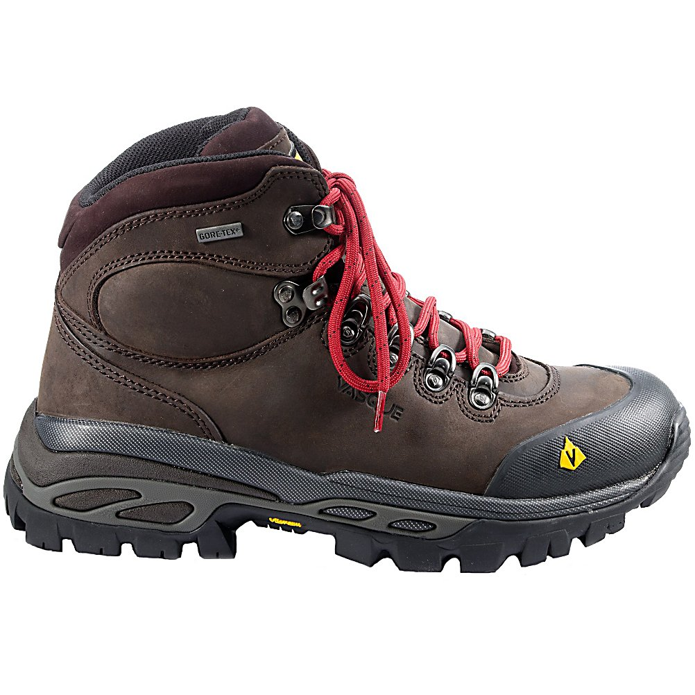 Camp and Hike Vasque Bitterroot GTX Mens Hiking Boots - The Vasque Bitterroot GTX Hiking Boots are built for stability, support and fit. You'll love wearing these boots every time you hit the hiking trails. Utilizing an EVA chassis in a TPU Armor, these boots have an excellent combination of both rigidity and cushioning so you have support and comfort at the levels hardly seen elsewhere. The Summit Outsole provides a heel pocket, great arch support and rockered toe so you have less foot fatigue and can last longer on the trails. Gore-Tex Technology is used on this boot so that you have a waterproof and breathable boot to prevent water from seeping in while still allowing for the sweat and moisture on the inside to leave. Designed to be rugged and comfortable, supportive and durable, the Vasque Bitterroot GTX Hiking Boots will help you tackle the challenges that the terrain may dish out. . Warranty: One Year, Waterproof: Yes, Material: Waterproof Leather, Type: Boot, Insulated: No, Sole Material: Molded PU/EVA/TPU, Model Year: 2013, Product ID: 306296 - $99.90