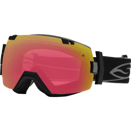 Ski Smith didn't pull any punches when it designed the I/OX Goggle with the Photochromic Lens. The frameless design ensures maximum peripheral vision. Smith's quick release system makes changing lenses a snap and its Vaporlock anti-fog system eliminates moisture before it can fog your lens. Photochromic lenses change tint with changing light conditions, so the lens works well all day, even if the clouds roll in (or out). Seamless helmet integration means you can forget about gaper gap forever, and the two included lenses let you change your look and worldview on the fly. - $187.96