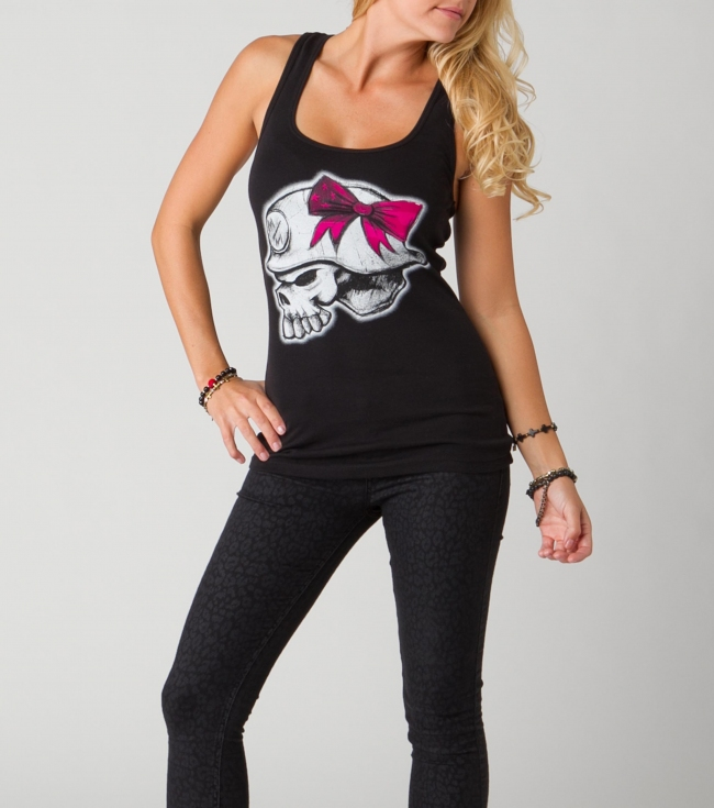 Motorsports Metal Mulisha Maidens 100% Cotton Racerback Tank. - $15.99