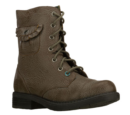 Entertainment Fun classic style and comfort combine in the SKECHERS Truffles - Hidden Treasure boot.  Full grain textured faux leather upper in a lace up mid calf casual dress boot with stitching and overlay accents. - $49.00