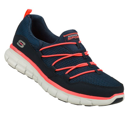 Fitness Improve your outlook with fun sporty comfort in the SKECHERS Synergy - Loving Life shoe.  Smooth faux leather and mesh fabric upper in a slip on sporty walking sneaker with FlexSole and Memory Foam Plus insole. - $68.00
