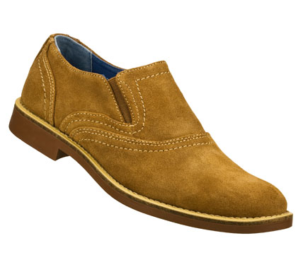 Entertainment Clean and classic style comes in the Mark Nason SKECHERS Hexet shoe.  Soft premium suede upper in a slip on dress casual loafer with stitching and overlay accents. - $79.00