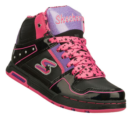 Skateboard Fun skate style comes in the SKECHERS Endorse - Spenders shoe.  Smooth leather and synthetic upper in a lace up sporty casual skate high top sneaker with stitching and overlay accents. - $49.00