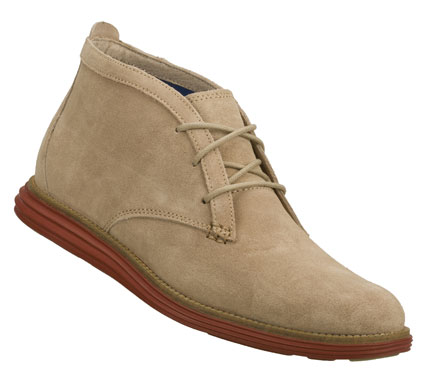 Entertainment Classic style loosens up a little with the Mark Nason SKECHERS Mayland shoe.  Soft milled suede upper in a lace up dress casual desert boot styled oxford with stitching and overlay accents. - $89.00