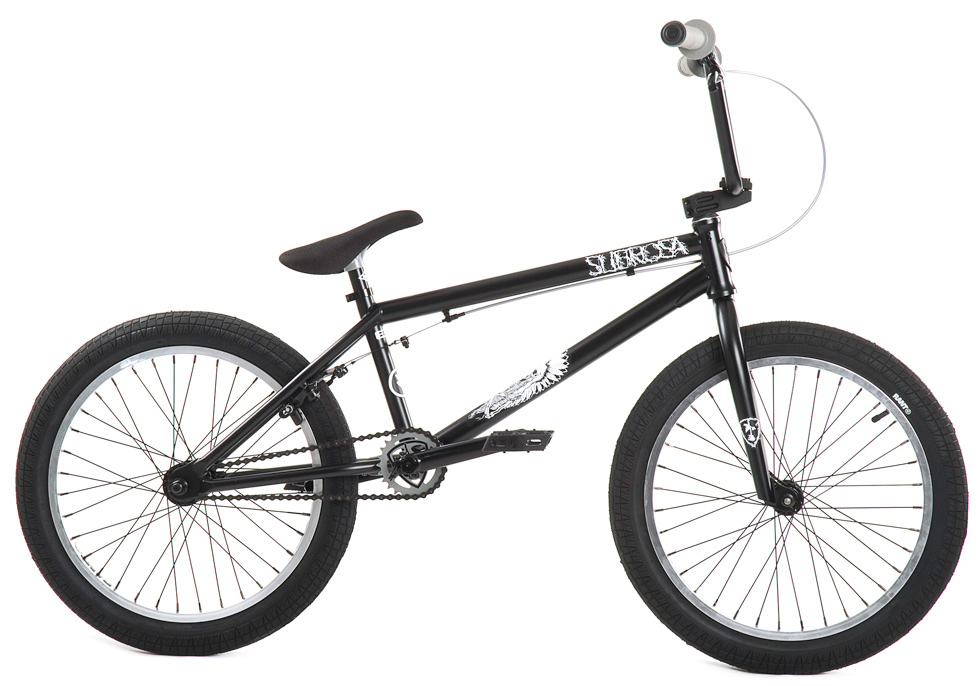 "BMX Key Features of the Subrosa Salvador BMX Bike 20"": FRAME: Japanese Seamless Chromoly Ovalized DT - 75 degree HT / 71 degree ST / 20.5"" TT / 13.75"" CS / 9.0"" standover height FORK: Chromoly Steer Tube - 30mm offset with Tapered Legs and Integrated Bearing Race BARS: 1020 Hi-Tensile Steel - 8.5"" rise / 12 degree backsweep / 1 degree upsweep / 28"" wide GRIPS: Shadow Thirteen BAR ENDS: Shadow Nylon Push In HEADSET: Sealed integrated headset STEM: Subrosa Hold Tight Top Load RIMS: Rant alloy 36H FRONT HUB: Rant 3/8"" Alloy REAR HUB: Rant 14mm Alloy Semi-Sealed Cassette TIRES: Rant 20 x 2.30 CRANKS: Rant Heat Treated Seamless Tubular 3pc. 8T 175mm Chromoly with Sealed Mid BB SPROCKET: Subrosa Shield steel GEARING: 25-9 CHAIN: Rant 1/8"" PEDALS: Shadow Ravager Plastic BRAKES: Alloy U-brakes w/ straight cable and Rant alloy lever SEAT: Shadow Solus Slimmer 1pc Seat / Post combo SEAT CLAMP: Slim style alloy PEGS: Rant steel (2) WEIGHT: 25.8 lbs - $353.95"