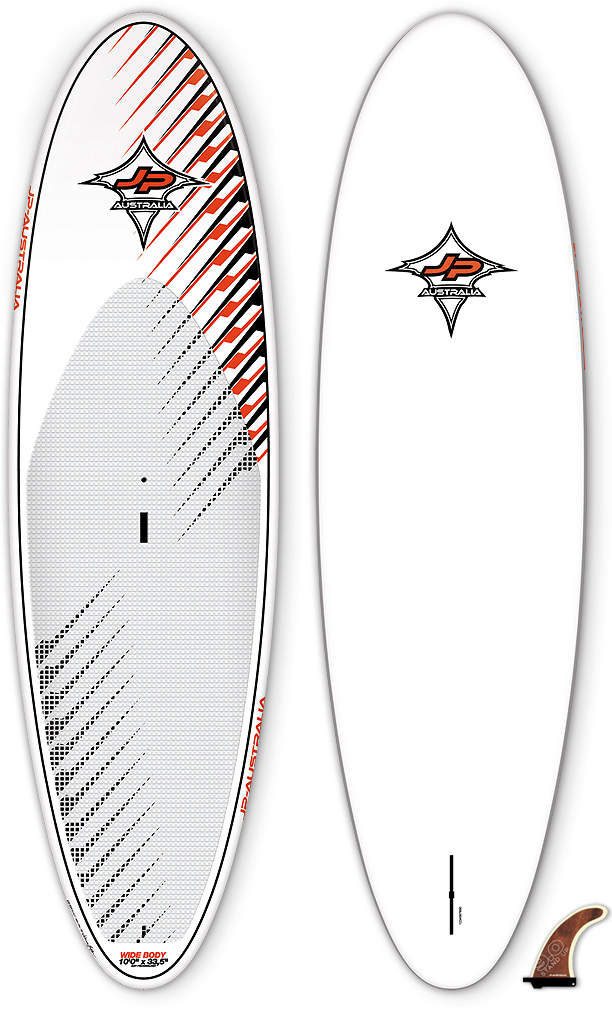 "Surf Novice SUP riders who have the urge of getting in the waves quickly pick the 10'0″. It is short and due to its 33,5″ width, it is super stable. Instant fun and improvement is guaranteed. The short length makes it easy to catch waves and even steep beach breaks are fun to ride. You never ever fall off this one in flat water. The stability the board provides makes it a perfect family toy for every family member.Key Features of the JP Australia Wide Body AST SUP 10ft x 33.5in: AST – AST technology Length(cm): 306 Width (cm): 85.5 Volume: 179L Weight (kg): 12.2 Fins: Stand Up 9.0"" (US) Shaper: Werner Gnigler - $1,059.00"