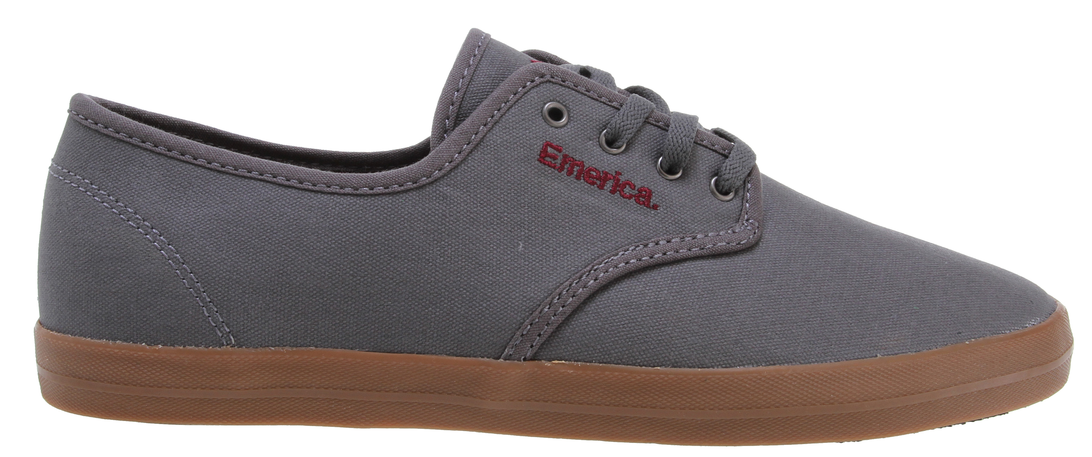 Skateboard Key Features of the Emerica The Wino Skate Shoes: Suede, textile or canvas upper materials EVA footbed - $34.95
