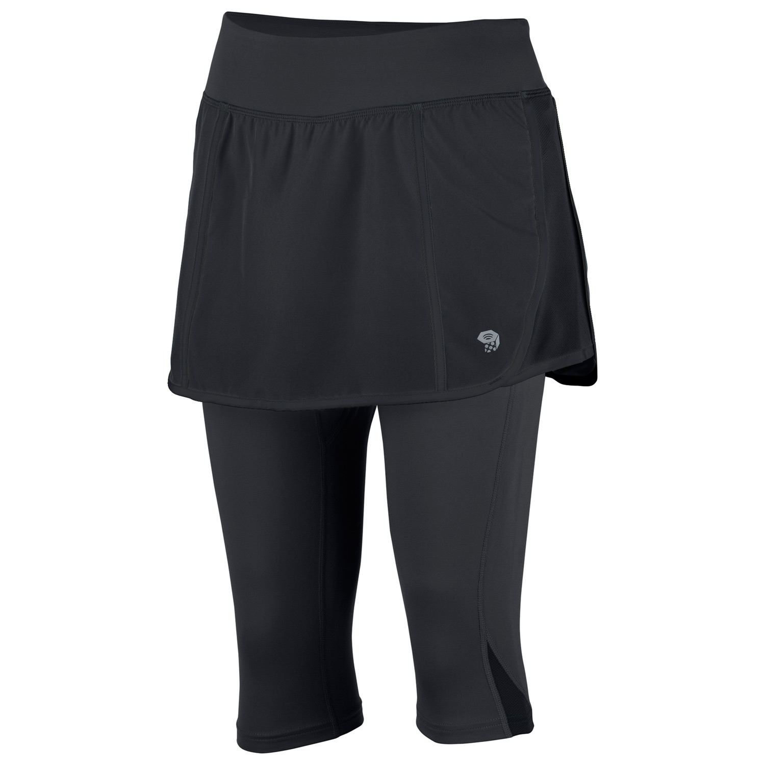 "Fitness Comfortable and cute. Technical fabric provides a great fit, moisture management and movement in a perfect combination of comfort of a tight with the modesty of shorts.Key Features of the Mountain Hardwear Pacer 2-In-1 Skeggins: Wicking, fast drying, stretch fabric Soft drawcord at waist for easy fit adjustments Internal waistband pocket Secure zip pocket on back of waistband DWR finish repels water UPF 25 Our most popular run skort now with built-in tights for cool winter runs. Apparel Fit Body Weight6.5 oz. / 185 g. Inseam Length16"" / 41 cm BodyTilewood Plain Weave - $48.95"