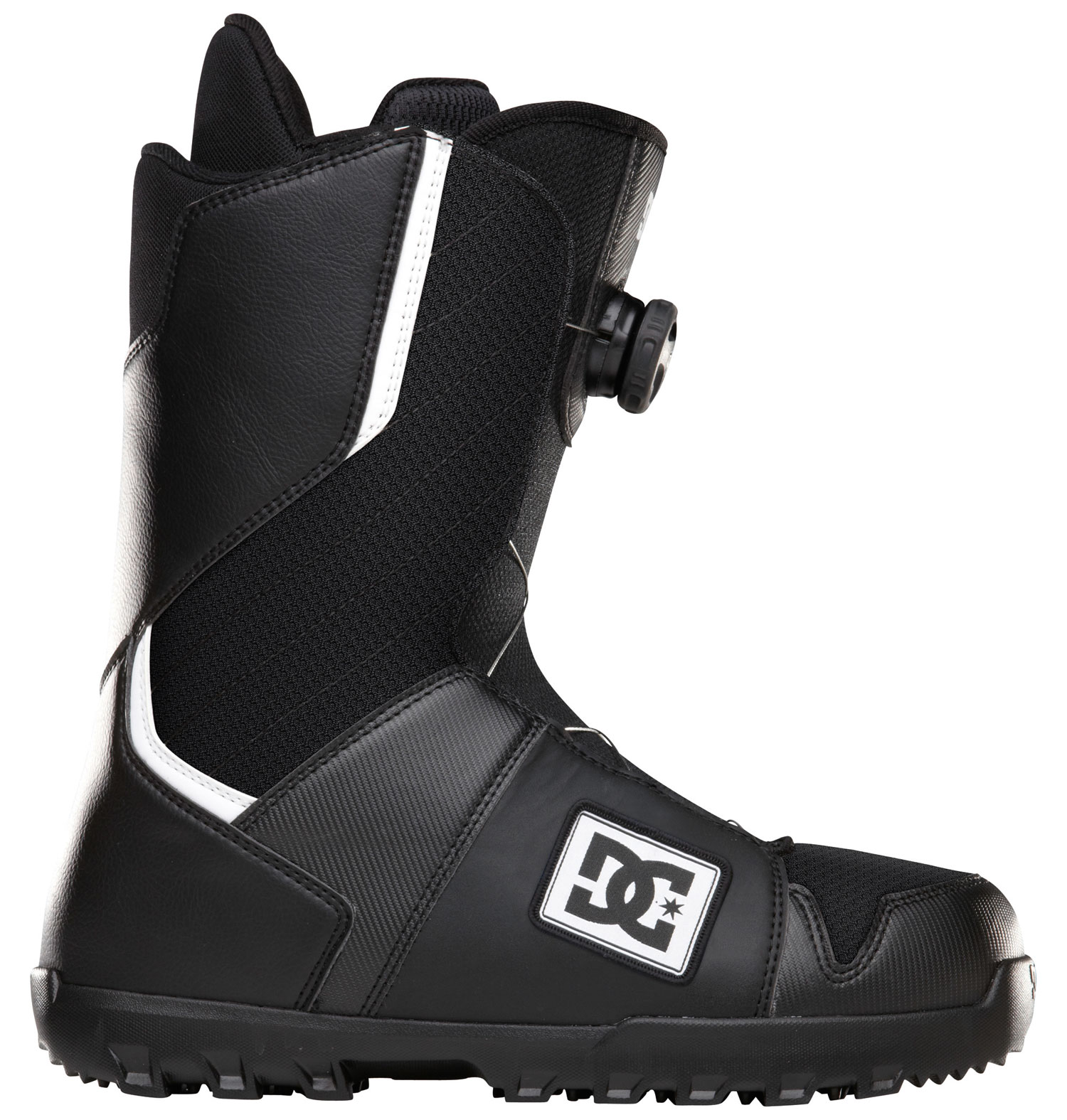 Snowboard Out of the box comfort and fit has made the scout one of dc's most popular boots!Key Features of the DC Scout Snowboard Boots: Flex: 5 Boa Coiler UniLite: DC's proprietary outsole technology, UnILIte provides traction, durability, dampening, and cushioning all while drastically reducing weight. UnILIte soles feature distinct traction patterns for ascending, descending, and skating around with our Push Zone tread pattern. the snow-shedding traction designs also prevent snow from building up and clogging bindings. Command Liner: multi density zones, aegis, lace closure, anatomical J-bars - $125.95