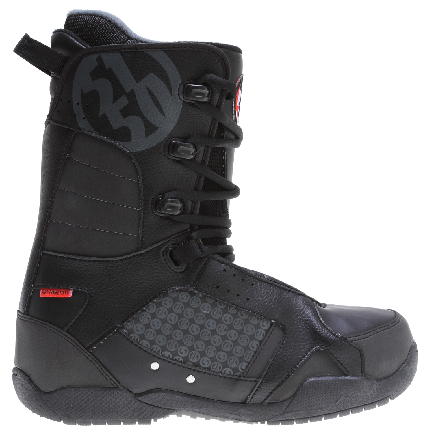Snowboard You would pay double for boots this good, but you do not have to! The Path CTS outsole provides cushion and traction, while the Powerfit liner features ergonomic warmth and support to keep your feet comfortable all day. Designed for all-mountain riding.Key Features of the 5150 Squadron Snowboard Boots: Path CTS Outsole with durable Rubber for a grip that will not slip PowerFit Liner with Lace Lock and Removable Insole Fitted Ankle Pocket with heel hold pads Rugged Waterproof Synthetic Leather Body Construction Webbing Lace Loops with Speed Hooks for easy lacing Multi-Zone Ankle Flex Points - $73.85