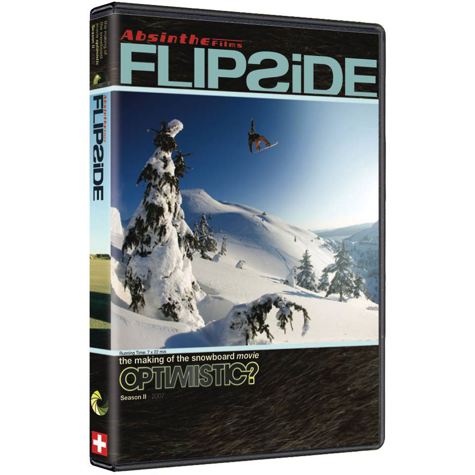 "Snowboard Flipside takes you behind the scenes during the production of ""Absinthe Films"" snowboard film ""Optimistic?"" Join the World's top professional snowboarders as they endure the sporadic feast or famine like conditions all around the globe of the 06 - 07 winter season. Witness the fun, adventure and drama of what it takes to make a high caliber snowboard film when faced with the extreme conditions varying from a dry warm winter in Europe and much of the U.S. to the huge blizzards that blanketed Denver, New York City, Buffalo, B.C. , Alaska and even the far reaches of Russia. Get to know the riders and filmers as they try to be in the right place at the right time. - $9.95"