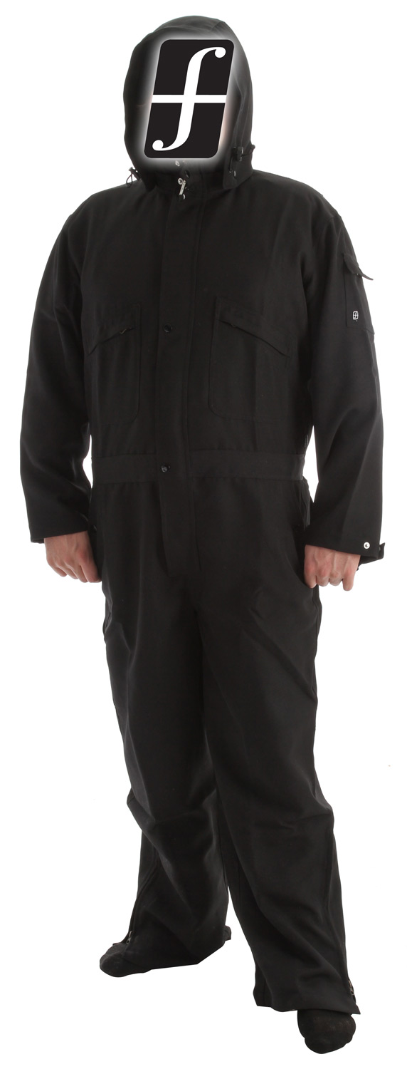"Snowboard Key Features of the Forum Grease Monkey One Piece Suit: 100% microfiber polyester with DWR coating 600mm 12"" pit vents opening 12"" leg vent opening Multiple pockets for storage Removable hood Adjustable cuffs Hand warmer pockets - $66.95"