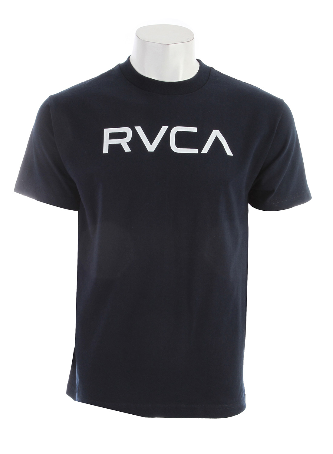 Entertainment Key Features of the RVCA Big RVCA Industrial T-Shirt: BLK, NVY WHT: 100% Cotton ATH: 90% Cotton/10% Polyester Heavier weight short sleeve crew tee Screen print front and screened inside neck - $22.00