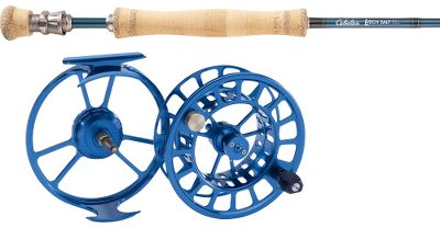 Flyfishing With Cabelas featherlight saltwater L-Tech fly rod and TLr fly reel, youre set up for a powerful and versatile day on the water, at an affordable price for any angler. Includes 90 ft. of Cabelas Prestige Plus Saltwater fly line (a $39.99 value) and 200 yds. of Prestige fly-line backing.Our Cabelas L-Tech saltwater fly-rods weight and fast action performs well in high-wind, sight-casting situations youre likely to encounter when targeting the most popular saltwater species. Equipped with corrosion-resistant components, the blanks are precision-crafted of a proprietary blend of IM6, IM7 and IM8 graphite for the ideal balance of line-zipping fast action and lightweight strength. It flawlessly transfers energy between the backcast and forward cast, accurately propelling line to your target. The threaded barrel section of the reel seat encloses the butt end of the blank to eliminate the extra weight of a middle insert and to ensure a secure bond with the blank. An up-locking Delrin ring ensures the locking nut snugs the reel securely in place. Corrosion-resistant, nickel-titanium-alloy REC Recoil stripper guides are 50% lighter than traditional guides and always return to their original shape. 25-year limited warranty.The TLr fly-reels frame size accommodates two spool sizes for a versatile system designed for the saltwater and spey angler. Purchase an extra spool and you can fish 9- to 12-weight lines for a variety of big-game fish. Machined-aluminum construction with an anodized finish withstands rugged use. Sealed Rulon disc drag for hard-fighting performance. Spey anglers can add an optional reel weight balancer to counterbalance the rod (sold separately).Images depict the style of the rod handle and may not fully represent the actual length. Type: Saltwater Fly Combos. Rod Model: 912-4. Reel Model: TLR-5 Black. Pieces: 4. Line Weight: 12. Length: 9'. Handle: B. Backing Capacity: 200 yds./30 lbs./WF12. Reel Tlr 5 Black. Rod Model Ltech Salt 912. - $399.99