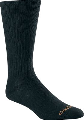 Entertainment Long, active days are more enjoyable when your feet are comfortable. Carhartts Flat-Knit Crew Socks deliver with reinforced heels and toes for superior protection and durability where you need it most. A premium blend of odor-resistant 72% cotton, 25% nylon, 2% spandex and 1% other fiber delivers super-soft comfort with a contoured, foot-pleasing fit. Flat toe seams wont rub or irritate. Machine washable. Per three pairs. Made in USA. Mens size: L(6-12). Colors: Black, White, Khaki, Navy. Carhartt Style No.: A3207-3. Size: L. Color: White. Gender: Male. Age Group: Adult. Material: Spandex. Type: Socks. - $16.99
