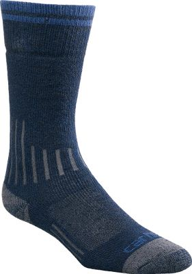 These cushioned, compression socks boast reinforced heels and toes for unsurpassed durability. Soft, premium merino wool has superior moisture-wicking and breathable qualities, keeping your feet warm and dry throughout the day. Spandex throughout provides arch support and a contoured, foot-pleasing fit. Flat-toe seams wont rub or irritate. Odor-resistant acrylic, nylon, merino wool and spandex construction. Made in USA. Womens size:M(5.5-11.5). Colors: Black 54% acrylic, 24% nylon, 19% merino wool, 1% spandex, 2% other fiber Khaki 52% acrylic, 27% nylon, 18% merino wool, 1% spandex, 2% other fiber Navy 54% acrylic, 25% nylon, 18% merino wool, 1% spandex, 2% other fiber Carhartt Style No: WA001. Size: M. Color: Black. Gender: Female. Age Group: Adult. Material: Wool. Type: Socks. - $11.99