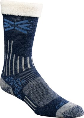 These cushioned, boot-cut compression socks boast reinforced heels and toes for unsurpassed durability. Soft, premium fabrics are moisture-wicking and breathable to keep your feet warm and dry. Spandex throughout provides arch support and a contoured, foot-pleasing fit. Flat-toe seams wont rub or irritate. Odor-resistant. 50% acrylic/30% nylon/17% wool/1% Lycra/2% other fiber. Made in USA. Height: 9.8 Womens size: M(5.5-11.5). Colors: Charcoal, Heather Grey, Khaki, Denim. Carhartt Style No.: WA435. Size: MEDIUM. Color: Khaki. Gender: Female. Age Group: Adult. Material: Acrylic. - $11.99