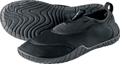 Experience premium foot comfort and excellent traction in and around the pool while wearing these Cabelas Womens Malibu Aqua Socks. Stretchable nylon and mesh uppers create a super-secure fit. Contoured and soft EVA footbeds grip wet and dry surfaces. Imported. Womens whole sizes: 6-10 medium width. Colors: Black, Royal Blue. Size: One Size. Color: Black. Gender: Female. Age Group: Adult. Material: Nylon. - $11.99