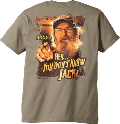 Hunting Tell em off like a real Duck Commander. Famous for turning a mom-and-pop duck-call shop into a multimillion-dollar empire, the Robertsons star in the hit TV series, Duck Dynasty. Lightweight 6.1-oz. 100% cotton construction. Machine washable. Imported.Sizes: S-3XL.Color: Safari. - $19.99