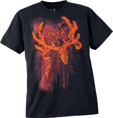 Hunting Express your passion for hunting and the outdoors with this stylish graphic tee. Enzyme-washed for a rugged, worn-in look. 100% preshrunk cotton. Imported. Sizes: M-2XL. Available: Fire Logo, Horizontal, Full Draw, Large Logo Skull, Circle Logo, Forest. Size: XL. Color: Bone. Gender: Male. Age Group: Adult. Pattern: Graphic. Material: Cotton. - $11.88
